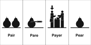 pair pare payer pear